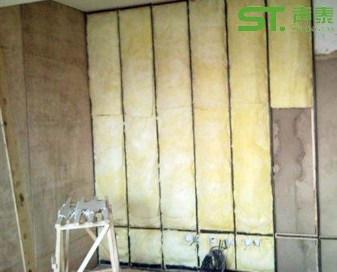 吸音棉墙体填充施工方法